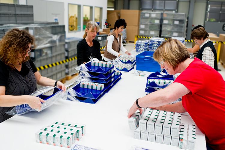 Verpackung der Arzneimittel