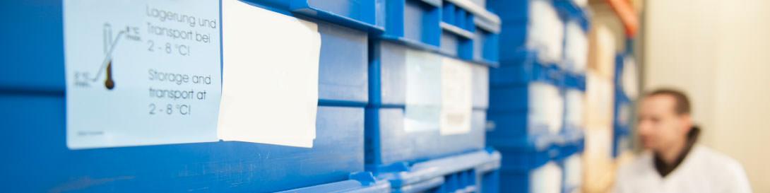 Med-X-Press bietet eine lückenlose Kühlkette für temperaturgeführte Pharmaprodukte und Arzneimittel im Bereich 2 bis 8 °C.