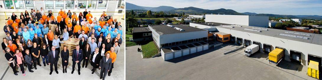 5 Lagerhallen mit mehr als 20.000 Palettenstellplätzen 15 – 25 °C