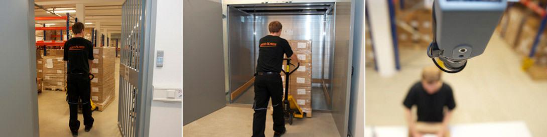 Auf mehr als 1.230 Quadratmetern stehen bei Med-X-Press insgesamt 1.530 Paletten- und Fachbodenstellplätze bei 15 °C bis 25 °C zur Verfügung.