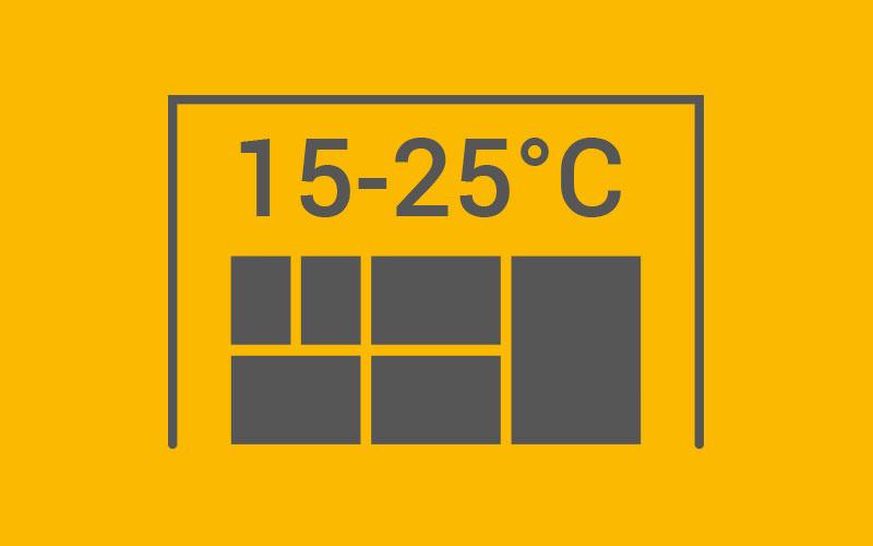 Arzneimittellager 15–25 °C