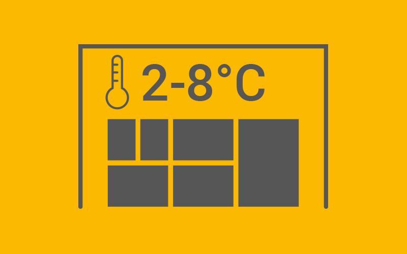 Kühllager 2–8°C